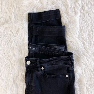 PACSUN MEN'S black denim slim jeans